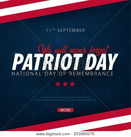 Patriot Day Promotion, Advertising, Poster, Banner, Template With American Flag. American Patriot Da