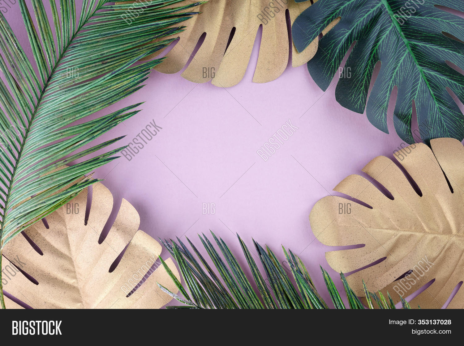 Tropical Leaves Gold Image Photo Free Trial Bigstock Artificial leaf tropical palm leaves simulation leaf for luau theme party decorations diy home garden decoration photo props tropical leaves on sale. tropical leaves gold image photo