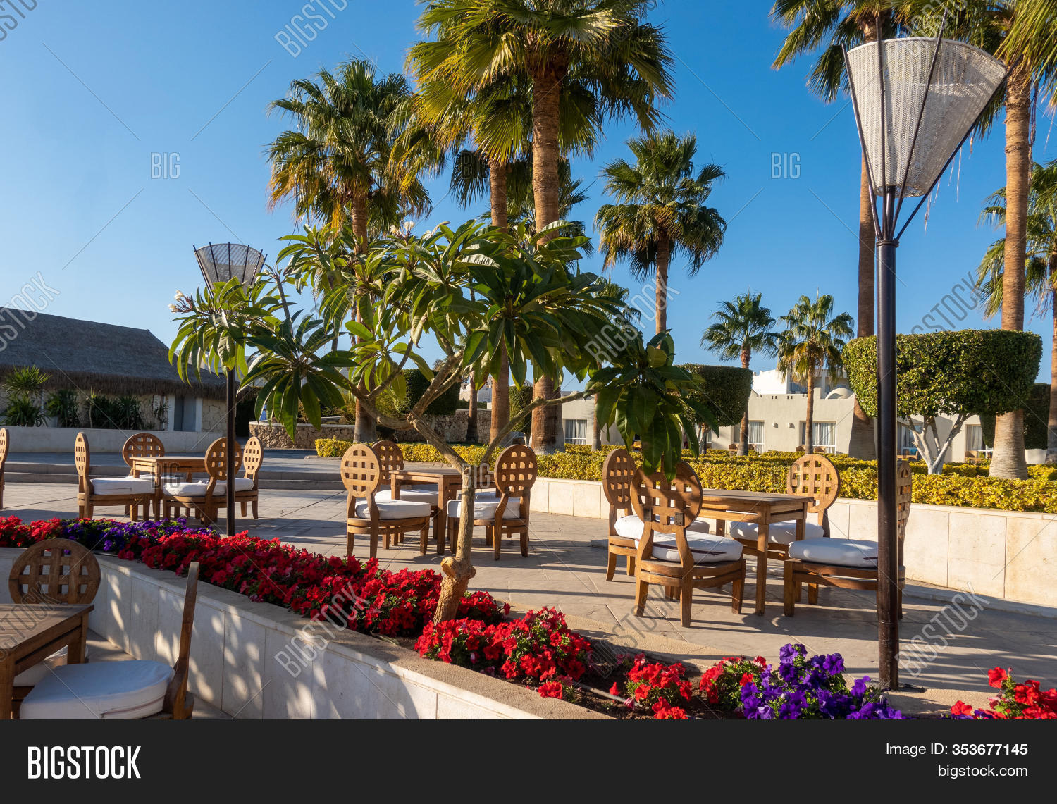 Outdoor Street Cafe Image Photo Free Trial Bigstock