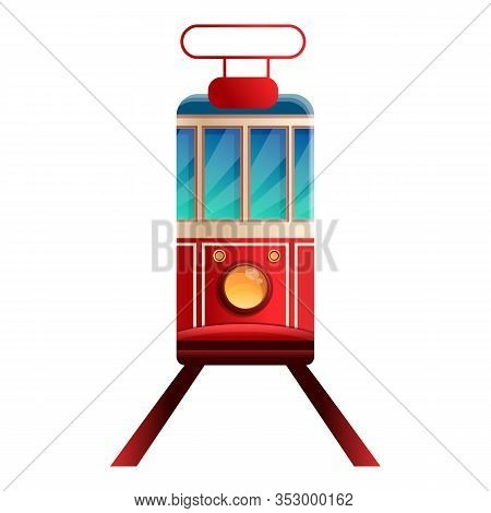 Tramcar Icon. Cartoon Of Tramcar Vector Icon For Web Design Isolated On White Background