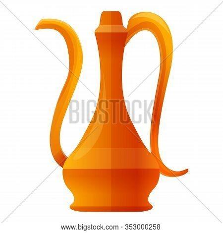 Turkish Tea Pot Icon. Cartoon Of Turkish Tea Pot Vector Icon For Web Design Isolated On White Backgr