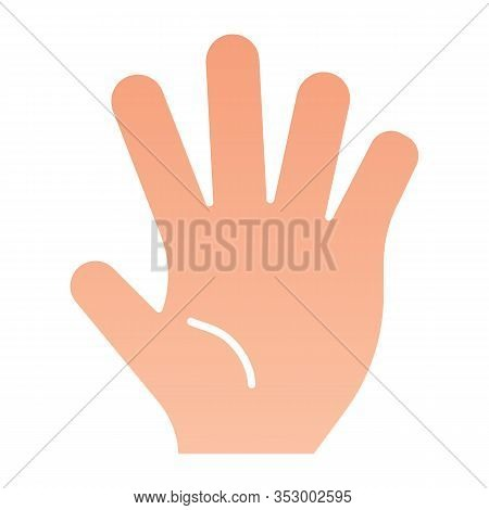 Hi Five Flat Icon. Five Fingers Gesture Vector Illustration Isolated On White. Hand Gesture Gradient
