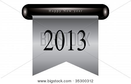 Happy new year ribbon