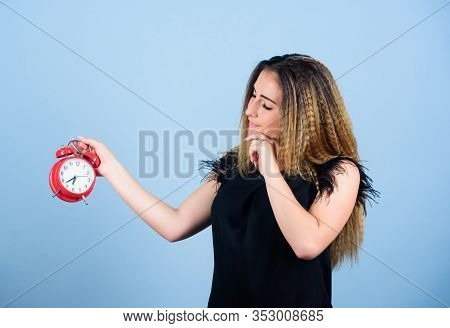 Time And Age Concept. Good Morning. Woman Being Late. Business Deadline. Time Management. Time Zone.