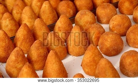 Stuffed Balls Rice Is A Typical Dish Of Italy Called Arancini In Italian Language