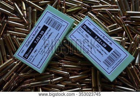 Sellier & Bellot production. Ammunition 7,62*39. February 27, 2020, Kiev, Ukraine