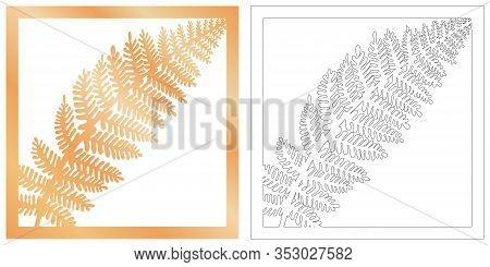 Laser Cut Of Tropical Leaf For Decorative Design. Tropical Exotic Isolated Design. Jungle Leaf Plott