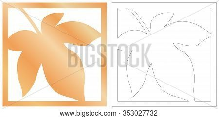 Laser Cut Of Tropical Leaf For Decorative Design. Tropical Exotic Isolated Design. Jungle Leaf Plott