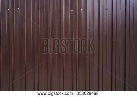 Brown Corrugated Roofing Sheet Metal As Background