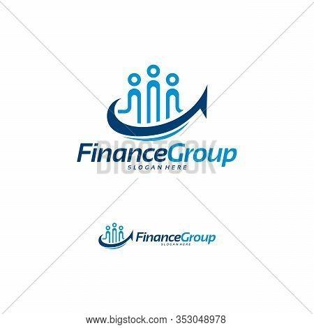 Finance Group Logo Designs Concept Vector, Finance Forum Logo Template Designs