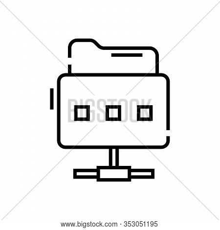 Files Keeper Line Icon, Concept Sign, Outline Vector Illustration, Linear Symbol.