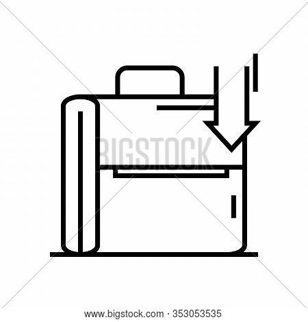 Hidden Files Line Icon, Concept Sign, Outline Vector Illustration, Linear Symbol.