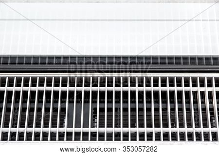 Trench Heating With Displacement Ventilation Of Metal Grill For Draught-free Ventilation, Close Up D