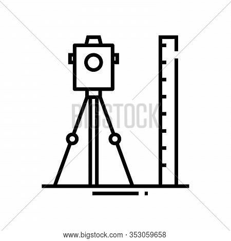 Geodesic Works Line Icon, Concept Sign, Outline Vector Illustration, Linear Symbol.