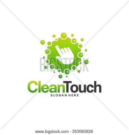 Clean Touch Logo Designs Concept Vector, Simple Clean Logo Template, Online Cleaning Logo Symbol