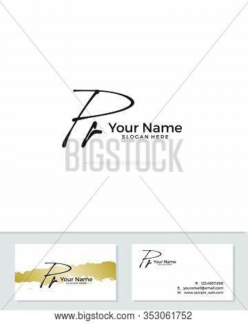 P R Pr Initial Logo Signature Vector. Handwriting Concept Logo.