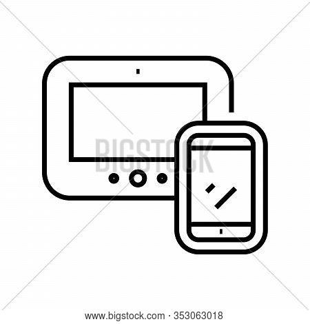 Gadjets Line Icon, Concept Sign, Outline Vector Illustration, Linear Symbol.