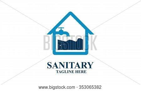 Sanitary Ware Logo Design Of Icon Vector Illustrations