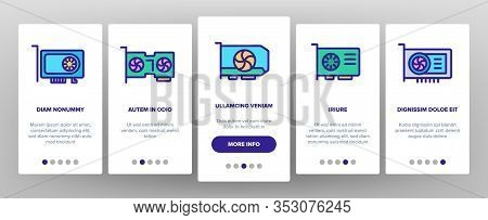 Math Science Education Onboarding Icons Set Vector. Math Formula And Function, Geometry Figure And B