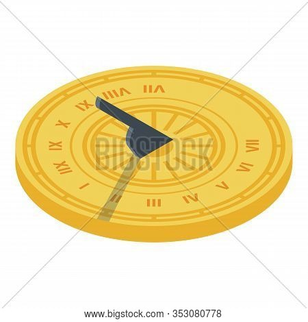 Sundial Icon. Isometric Of Sundial Vector Icon For Web Design Isolated On White Background