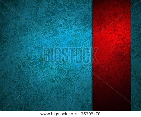 Blue Background Red Ribbon