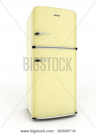 Yellow refrigerator