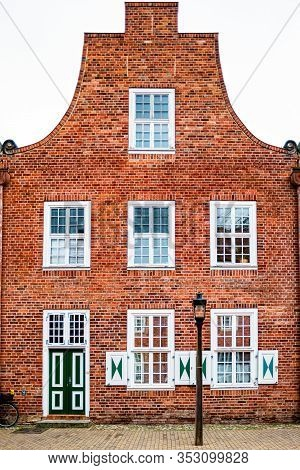 Facade Of Old Building In The Dutch Quarter In Potsdam, Germany