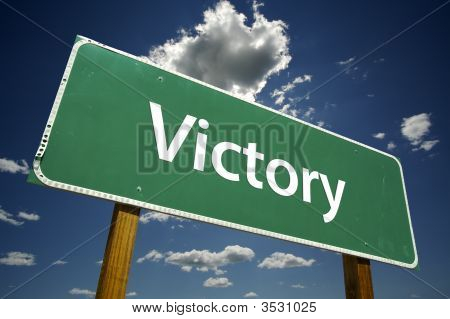 Victory Road Sign
