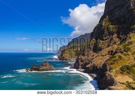 Coast near Boaventura in Madeira Portugal - travel background