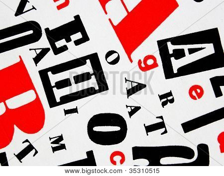 Red Black White - Letters Mixture