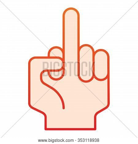 Fuck Off Sign Flat Icon. Hand Gesture Vector Illustration Isolated On White. Middle Finger Raised Sy