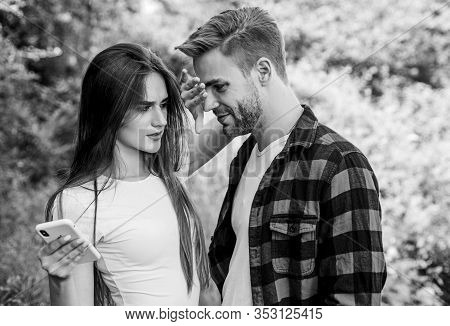 Internet Dependence. Buy Online. Man Picky Jealous Girlfriend Messaging Online. Guy And Girl Nature