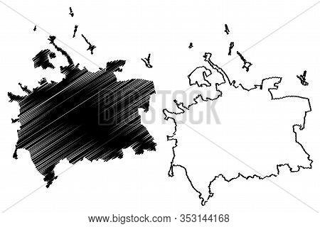 Cluj-napoca City (republic Of Romania) Map Vector Illustration, Scribble Sketch City Of Cluj Napoca