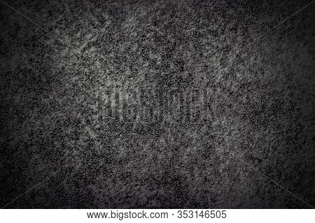Black And White Rough Texture Surface Of Exposed Aggregate Finish For Background