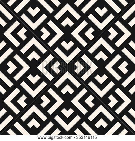 Vector Geometric Seamless Pattern With Squares, Rhombuses, Diamond Grid, Lattice, Net, Mesh. Abstrac