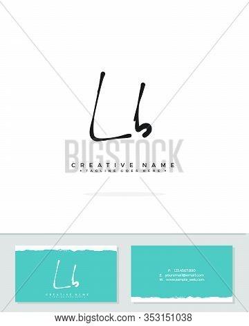 L B Lb Initial Logo Signature Vector. Handwriting Concept Logo.