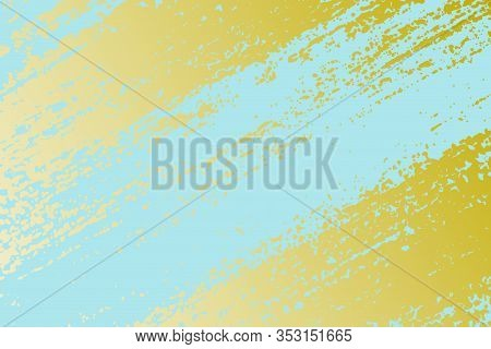 Gold Patina Effect Grunge Paint Texture. Golden Trendy Chic Background. Vintage Abstract Elegance St