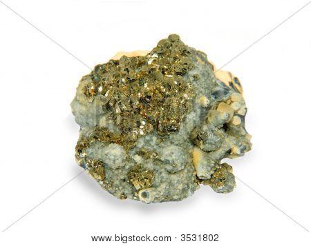 Crystals Of A Kaltsit And Pirit