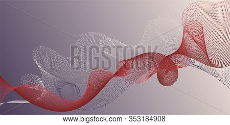 Fiber Lines Geometric Simple Background. Stylish Progressive Technology Vector Wallpaper. Uneven Ben
