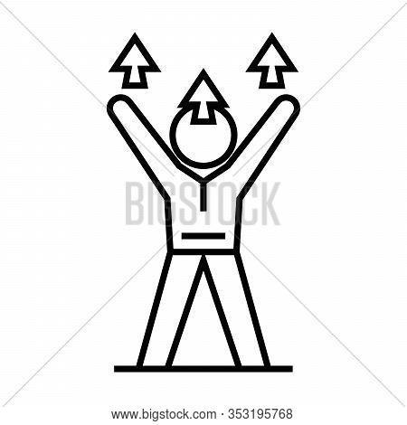 Increasing Potential Line Icon, Concept Sign, Outline Vector Illustration, Linear Symbol.