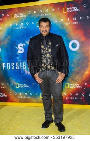 Neil deGrasse Tyson arrives at the Los Angelos premiere of National Geographic's
