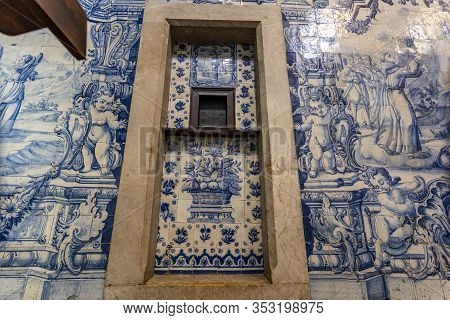 Lisbon - August 30, 2019: Detail Of A Confessional Booth At The Church Od Sao Pedro De Alcantara, In