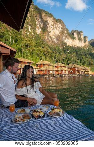 Khao Sok National Park Thailand, Couple On Vacation At Khao Sok Park Thailand, Couple On Vacation In