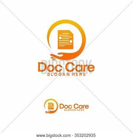 Document Care Logo Template, Document Keeper Logo Designs Vector