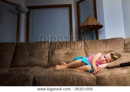 Child Sleeping At Night.