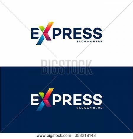 Fast Forward Express Logo Designs Vector, Modern Express Logo Template, Design Concept