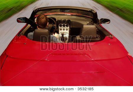 Red Cabriolet Car