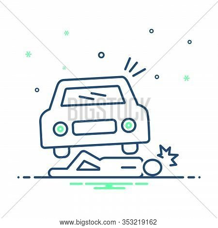 Mix Icon For Accidental-death Accidental Death Lying Injured Careless  Insurance