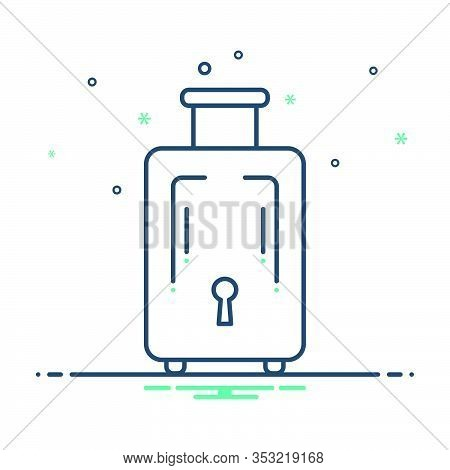 Mix Icon For Baggage-luggage Baggage  Luggage Journey Insurance Tourist