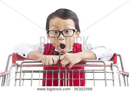 Shocked Elementary School Student